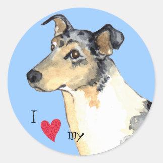I Love my Smooth Collie Round Sticker