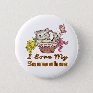 I Love My Snowshoe 2 Inch Round Button