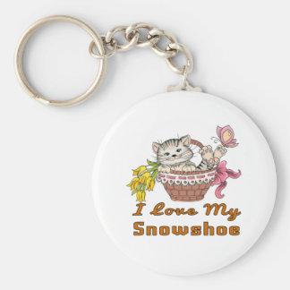 I Love My Snowshoe Keychain