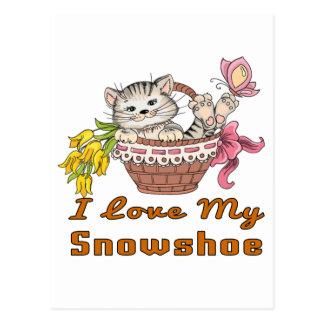 I Love My Snowshoe Postcard
