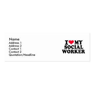 I love my Social Worker Business Card Template