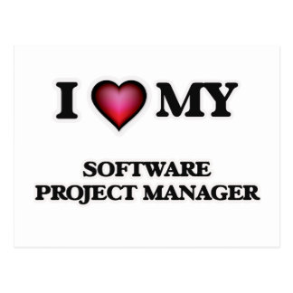I love my Software Project Manager Postcard