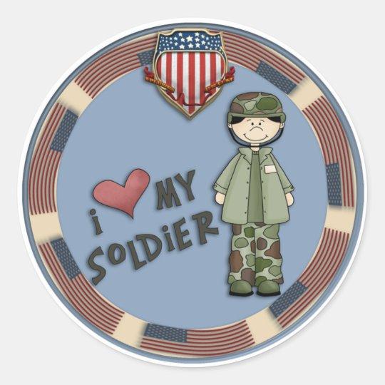 I love my soldier1 classic round sticker