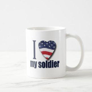 I Love My Soldier Classic White Coffee Mug