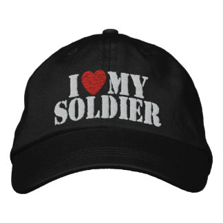 I Love My Soldier Embroidered Hat ✯