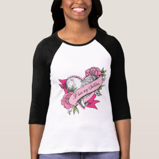I love my Soldier - Heart & Roses T-Shirt