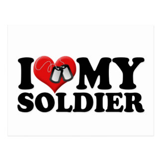 I Love My Soldier Postcard