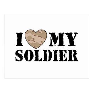 I Love My Soldier Postcard