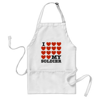 I Love My Soldier Standard Apron