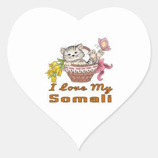 I Love My Somali Heart Sticker
