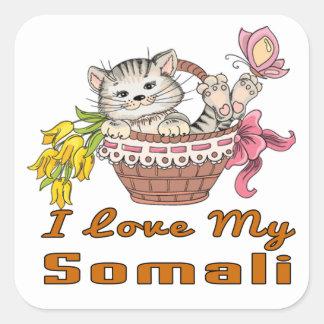 I Love My Somali Square Sticker