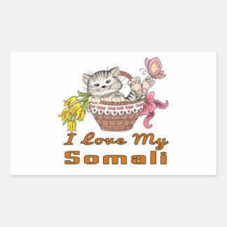 I Love My Somali Sticker