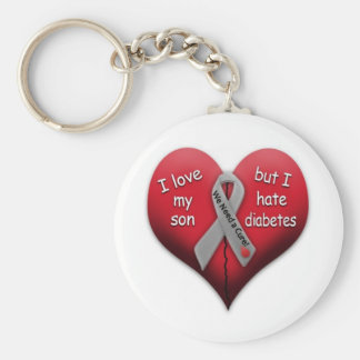 I love my son but Hate Diabetes Keychain