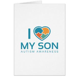 I Love My Son Card