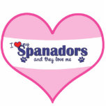 I Love My Spanadors (Multiple Dogs) Acrylic Cut Outs