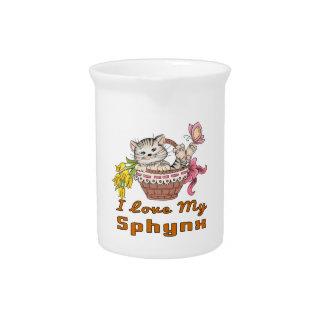 I Love My Sphynx Drink Pitchers