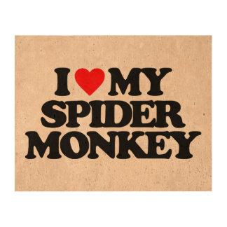 I LOVE MY SPIDER MONKEY QUEORK PHOTO PRINTS