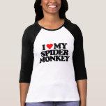 I LOVE MY SPIDER MONKEY TEES