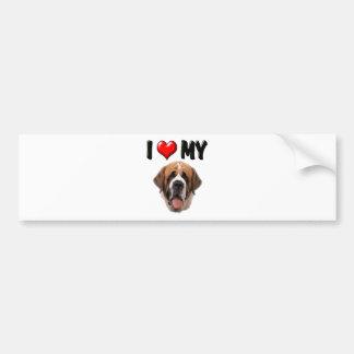 I Love My St Bernard Bumper Sticker