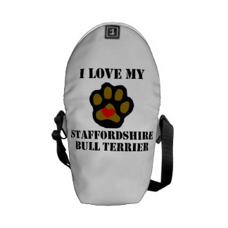 I Love My Staffordshire Bull Terrier Commuter Bag