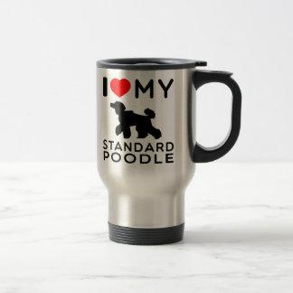 I Love My Standard Poodle Coffee Mugs