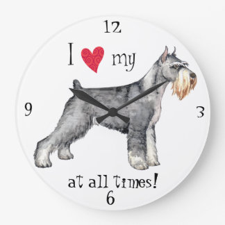 I Love my Standard Schnauzer Clocks