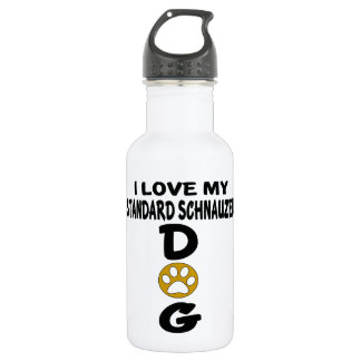 I Love My Standard Schnauzer Dog Designs 532 Ml Water Bottle