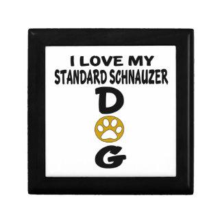 I Love My Standard Schnauzer Dog Designs Trinket Box