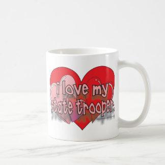 I LOVE MY STATE TROOPER COFFEE MUG