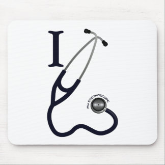 I Love My Stethoscope - Blue Mouse Pad