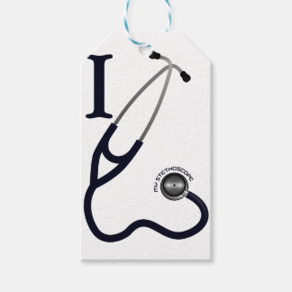 I Love My Stethoscope - Blue Pack Of Gift Tags