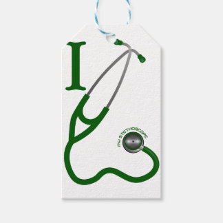 I Love My Stethoscope - Green Pack Of Gift Tags
