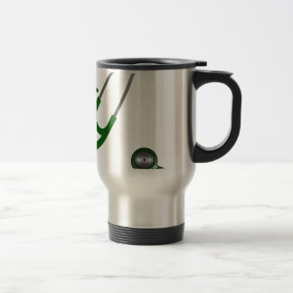 I Love My Stethoscope - Green Travel Mug