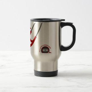 I Love My Stethoscope - Red Travel Mug