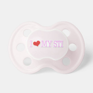 I Love My STI Baby Pacifiers