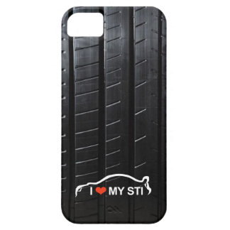 I Love MY STI on tire tread iPhone 5 Cover