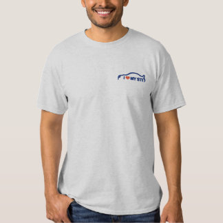 I Love My STI - Sapphire Blue Embroidered T-Shirt