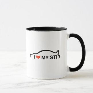 I Love My STI Silhouette Mug