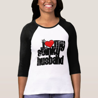 i love my stinky husband (distressed) tee shirts