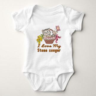 I Love My Stone cougar Baby Bodysuit