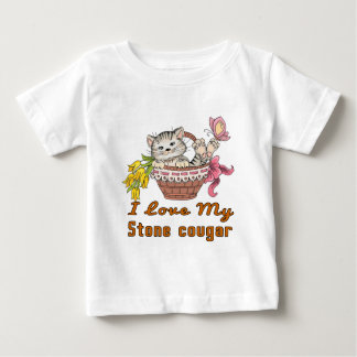 I Love My Stone cougar Baby T-Shirt