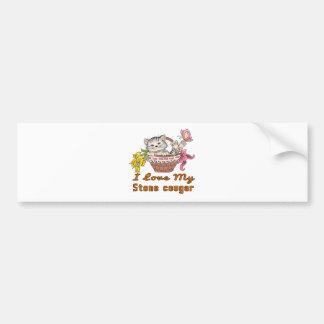I Love My Stone cougar Bumper Sticker