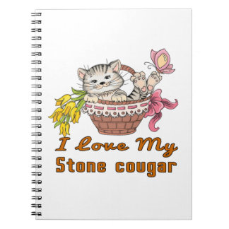 I Love My Stone cougar Notebooks