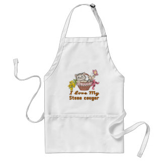 I Love My Stone cougar Standard Apron