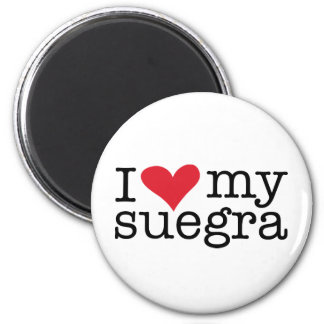 I Love My Suegra (Mother In Law) 2 Inch Round Magnet