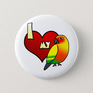I Love my Sun Conure 2 Inch Round Button