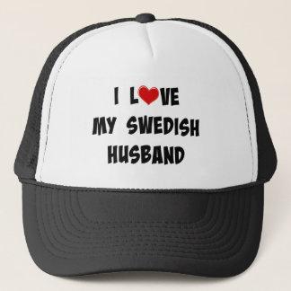 I Love My Swedish Husband Trucker Hat
