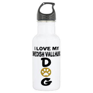 I Love My Swedish Vallhund Dog Designs 532 Ml Water Bottle