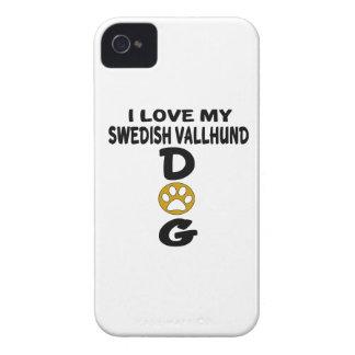 I Love My Swedish Vallhund Dog Designs Case-Mate iPhone 4 Cases