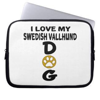 I Love My Swedish Vallhund Dog Designs Laptop Computer Sleeves